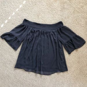 Like New. Torrid off-the-shoulder blouse.